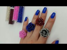 ANILLO/ ANILLO EN FORMA DE ROSA /ANILLO DE MOSTACILLAS - YouTube Tutorial Anillo, Ring Tutorial, Beaded Jewelry Designs, Bead Jewellery, Bead Embroidery Jewelry, Beaded Embroidery, Beading Tutorials, Beading Patterns, Beaded Rings