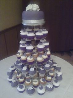 purple and silver wedding cake - Google Search