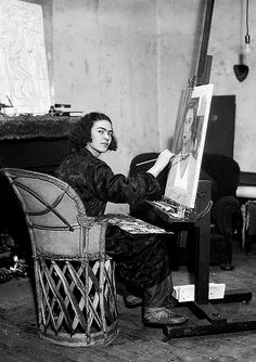 Frida Kahlo in her studio at home in Coyoacán