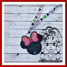 MsMouse Mr Mouse  ~ Pin Lanyard Display Mouse HeaD Trader ~ ITH Mr Miss Mouse Inspired Photo Prop ~ INSTANT Download Design by Carrie aStitchForYou on FB & Etsy