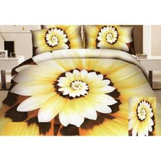 žltohnedé posteľné obliečky s kvetinovými lupeňmi Bedroom Bed, Bedroom Decor, Plants, Bedding, 3d, Decorating Bedrooms, Planters, Bed, Comforters