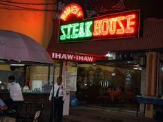 Nighttime Picture of Ribeye Steak House ,Balibago, Angeles City ... #fieldsave #restaurants #balibago #angelescity