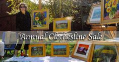 Clothesline sale coming in Sept. to Artsbridge. Details on our website.