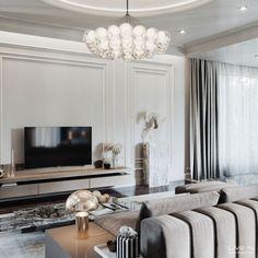 'Lofty Aspirations' Apartment - Living Room — Live IN Apartment Design, Apartment Living, Modern Tv Room, Luxury Interior, Interior Design, Living Room Tv Unit Designs, Living Room Decor Inspiration, Style Inspiration, Classic Living Room