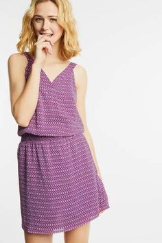 Kleid mit Gummizug Reva Chiffon, Street One, Mode Online, Dresses, Fashion, Modern Fashion, Scale Model, Clothing Apparel, Silk Fabric