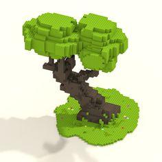 """William Santacruzさんのツイート: """"Lego Tree Voxelart #voxelart #voxel #magicavoxel #Minecraft #pixel #pixelart #retroart #retro #tree #bonsai #art #gameart https://t.co/BHMqMcmeZV"""""""