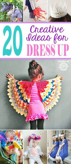 20 Creative Ideas for Dress Up                                                                                                                                                                                 More