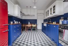This boldly painted, retro inspired kitchen from British Standard is  pushing all of the right buttons for us at Heart Home. It successfully  marries many of the trends we predict for the New Year for one thing.  Namely, the move away from neutrals and pastel colours in favour of the  big, the bold and the colourful. The use of patterned floor tiles (yes we  know they've been around for a while but we predict they will be more  widely used and not just in designer kitchens), and a growing...
