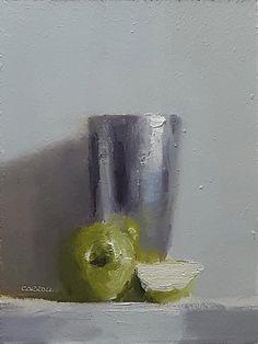Neil Carroll Original Oil Painting Realism Impressionism Still Life Apples