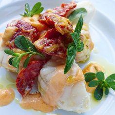 Lotte au chorizo bellota.... #menubistronomique #lotte #chorizo #bellota #Food #Foodista #PornFood #Cuisine #Yummy #Cooking