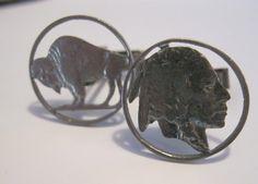 Fabulous Vintage. https://www.etsy.com/listing/180327797/vintage-buffalo-nickel-cuff-links-front