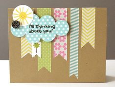 simple, love that she used tape to finish this card