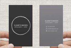 Business Card Printable Premade Template Double by inmystudioo