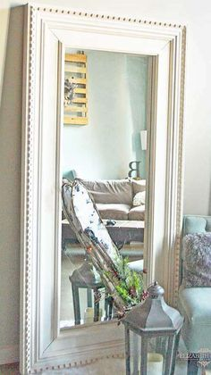 from ikea to restoration hardware DIY floor mirror tutorial using the Ikea Mongstad modern mirror makeover inspired by Restoration Hardware St James Collection. Hack Ikea, Ikea Mirror Hack, Diy Mirror, Ikea Mirror Ideas, Mirror Door, Mirrored Bedroom Furniture, Bedroom Furniture Makeover, Diy Furniture, Bedroom Decor