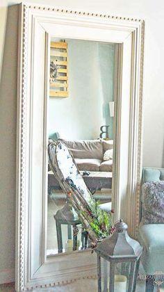 from ikea to restoration hardware DIY floor mirror tutorial using the Ikea Mongstad modern mirror makeover inspired by Restoration Hardware St James Collection. Mirrored Bedroom Furniture, Bedroom Furniture Makeover, Diy Furniture, Bedroom Decor, Mirror Bedroom, Furniture Design, Ikea Mirror Hack, Diy Mirror, Ikea Mirror Ideas