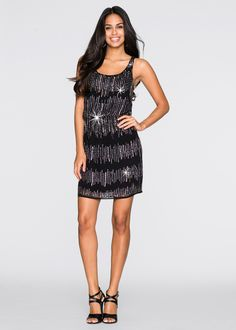 Kleid mit Pailletten - Glamouröses Kleid mit breiteren Trägern und Rundhalsausschnitt. Der absolute Hingucker sind die Pailletten-Applikation auf dem gesamten Kleid, die für einen atemberaubenden Auftritt sorgen. - ab 59,99 €