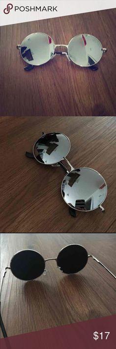 Silver mirror sunglasses Silver mirror round sunglasses brand new! Accessories Sunglasses