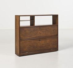 Peder Moos; Rosewood and Birch Veneer Cabinet, 1940.