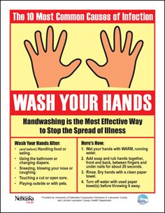 Wash Those Hands Poster (free) plus several handwashing posters.