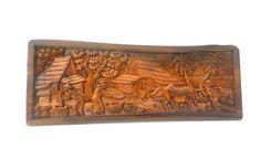Madera tallado antiguo tailandés aldea vida cultura talladas a