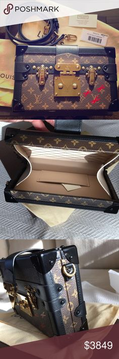 Louis Vuitton Petite Malle Monogram Clutch Bag Authentic Louis Vuitton Petite Malle Monogram Condition: 9.7 out of 10 with 10 being brand new Comes with the box, dust bag, tags, ribbon, receipt, strap. This was bought in December 2015 A truly iconic Louis Vuitton piece Eye catching clutch It can be used as a cross body bag Very fashionable and can be used both day and night A statement piece of luxury I accept reasonable offers This is priced very reasonably Retails $5,200 plu...
