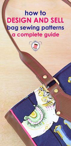 Learn to design bag sewing patterns | handbag patterns | purse patterns | free bag patterns | learn to sew bags | tote sewing patterns | how to sew bags | fabric bag sewing patterns | pattern designing
