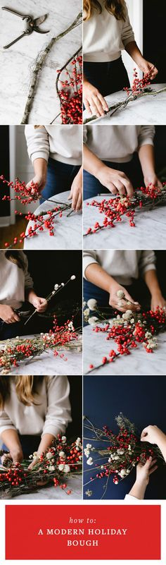 Ditch the Wreath & DIY This Modern Bough Instead! Learn how to make a Christmas bough perfect for holiday decor. Ditch the Wreath & DIY This Modern Bough Instead! Learn how to make a Christmas bough perfect for holiday decor. Modern Christmas, Christmas Holidays, Simple Christmas, Christmas Ideas, Diy Party Decorations, Christmas Decorations, Diy Craft Projects, Diy And Crafts, Seasonal Decor