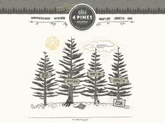 Love this creative idea - Web design for 4 Pines