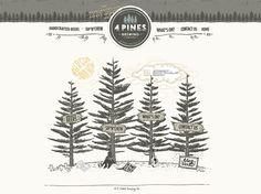 Love this creative idea - Web design for 4 Pines