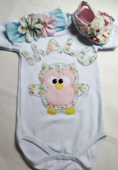 kit body corujinha floral: