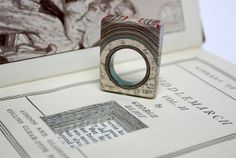 Paper Rings: Upcycled Rings Made From Books