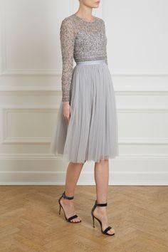 Andromeda Long Sleeve Midi Dress | Needle & Thread | Needle & Thread