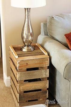 Construire une table de chevet rustique avec des palettes en bois recyclées