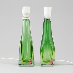 A pair of glass table lights from Murano, Italy, 1950's. - Bukowskis Nordic Design, Wine And Spirits, Bottle Design, Glass Table, Light Table, Murano Glass, Gin, Contemporary Art, Sculptures