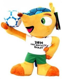 fifa #fuleco #football world cup #brazil 2014 plush toy with ball yellow yellow ,  View more on the LINK: http://www.zeppy.io/product/gb/2/112200544382/