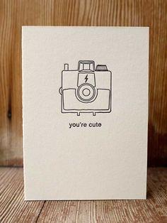 """You're cute"" Print and grain"
