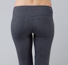 Nina.B.Roze Heart Butt LeggingDk.Heather Grey by NinaBRoze on Etsy, $99.00