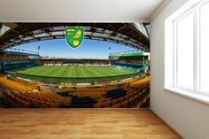 Official Licensed Football & Entertainment Wall Stickers - Norwich City Bedroom Football Gifts - The Beautiful Game Football Bedroom, Football Wall, Football Stickers, Norwich City Football, Norwich City Fc, Bedroom Flooring, Bedroom Furniture, Bedroom Decor, Bedroom Ideas