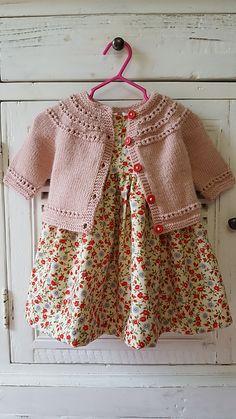 Ravelry: Project Gallery for Eyelet Yoke Baby Cardigan pattern by Carole Barenys