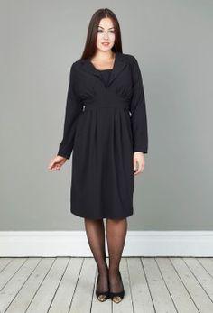 Anna Scholz Black Crepe Dress