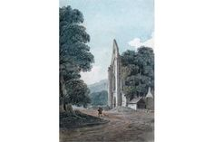 Thomas Hearne (1744-1817) Valle Crucis Abbey, Llangollen Watercolour 21 x 14cm; 8¼ x 5½in ++Very