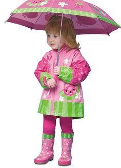 Żaden deszcz nie popsuje nam zabawy ;) Stephen Joseph Kurteczka Przeciwdeszczowa Arbuz roz.92/98 MiniPodróżnik