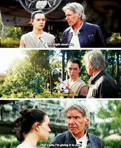 Rey and Han tumblr #starwars #forceawakens #tfa