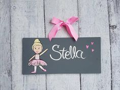 Check out this item in my Etsy shop https://www.etsy.com/ca/listing/532993641/pink-and-grey-ballerina-name-sign-dance