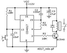 Metal detector circuit using ic 555 electronic circuits risultati immagini per bistabile con cd4017 ccuart Choice Image