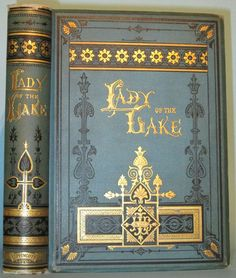 The Lady of The Lake Walter Scott Victorian Fine Binding Engravings Antique 1880