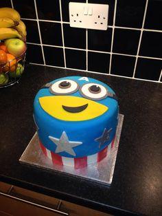 Captain America Minion cake Geek Cakes Pinterest Cakes