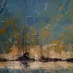Wilde zeeën, donkere onweerswolken, schuimende golven, maar ook kleurrijke herfsttaferelen ontstaan in het atelier van Justyna Kopania en laten in hun ruwe eenvoud een diepe indruk achter.