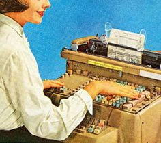 The Number 1 job for ladies in the 1950s was the Secretary.