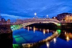 Cane - Google+ - Ha'penny Bridge's beauty at night, Dublin